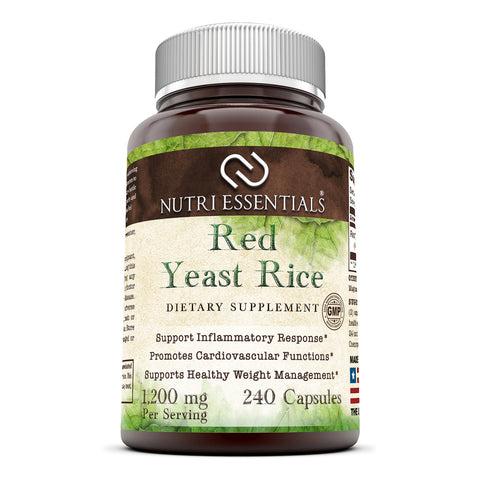 Nutri Essentials Red Yeast Rice 1200 Mg 240 Capsules