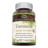 Nutri Essentials Turmeric Curcumin Dietary Supplement 800 Mg 100 Veggie Capsules