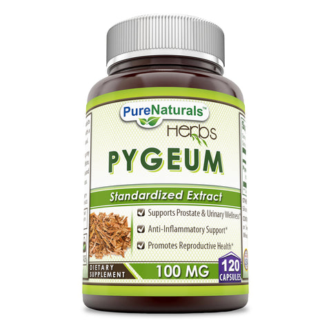 Pure Naturals Pygeum Extract 100 Mg 120 Capsules