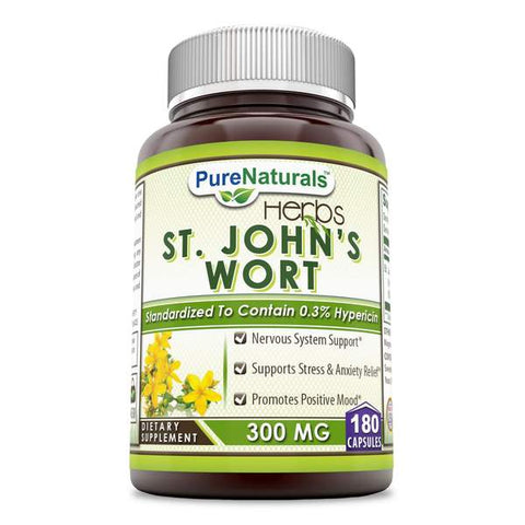 Pure Naturals St. Johns Wort 300 Mg 180 Capsules
