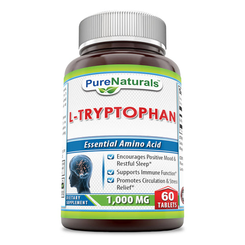 Pure Naturals L Tryptophan 1000 Mg 60 Tablets