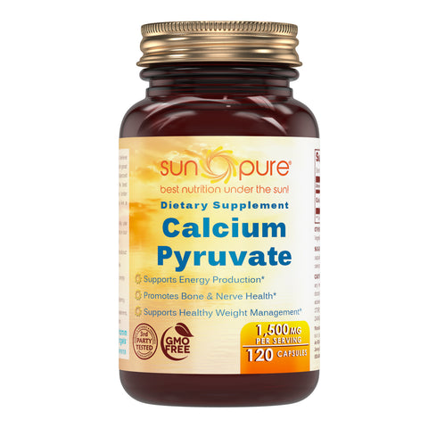 Sun Pure Calcium Pyruvate 1500 Mg 120 Capsules