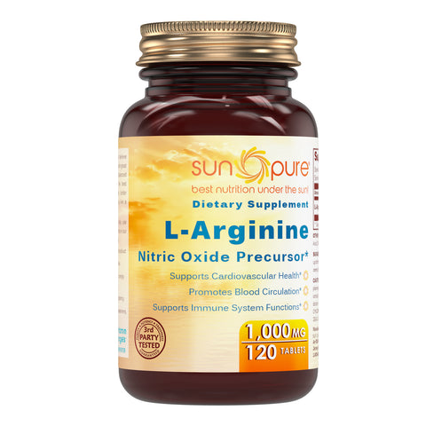 Sun Pure L Arginine 1000 Mg 120 Tablets