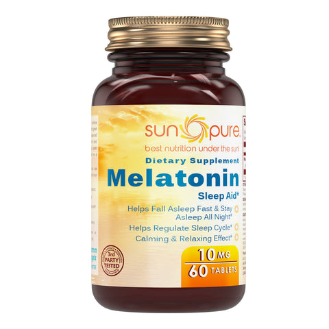 Sun Pure Melatonin 10 Mg 60 Tablets