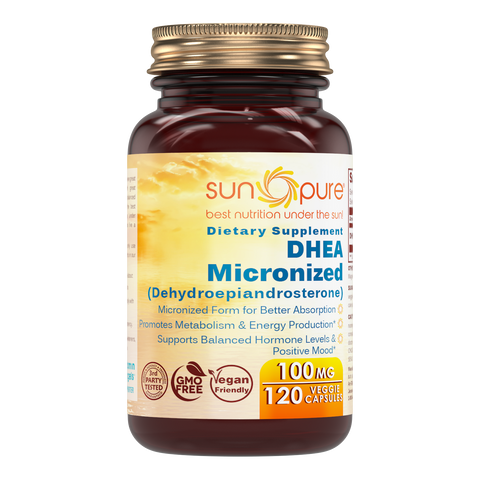 Sun Pure DHEA Micronized 100 Mg 120 Tablets