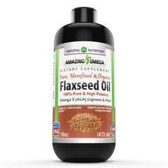 Amazing Nutrition Amazing Omega Flaxseed Oil Dietary Supplement 16 Fl Oz.
