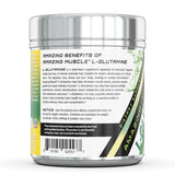 Amazing Muscle L Glutamine Powder Supplement Unflavored 90 Servings 1 Lb jar