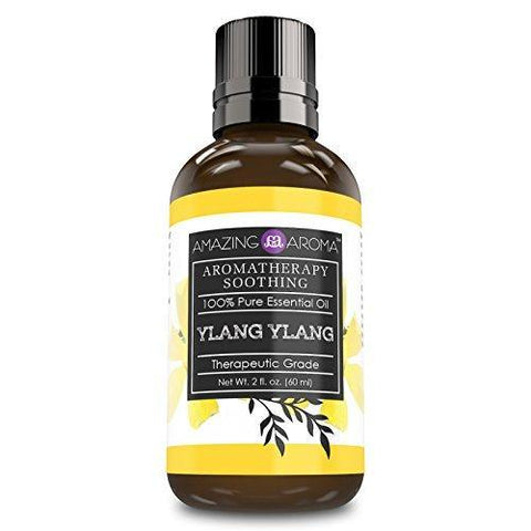 Amazing Aroma Ylang-Ylang Essential Oil - 2 Oz.(60 ml) Bottle- Aromatherapy Soothing 100% Pure Essential Oil, Undiluted Therapeutic Grade Oils
