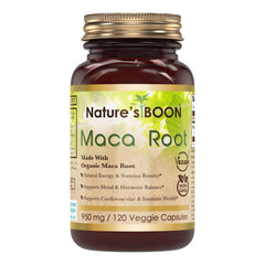 Nature's Boon Maca Root 950 Mg 120 Veggie Capsules