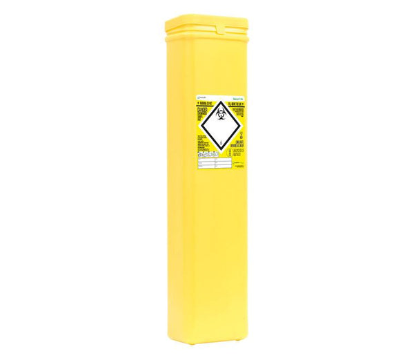 7.5 Litre Quiver Protected Access Yellow Sharps Container (Pack of 2)