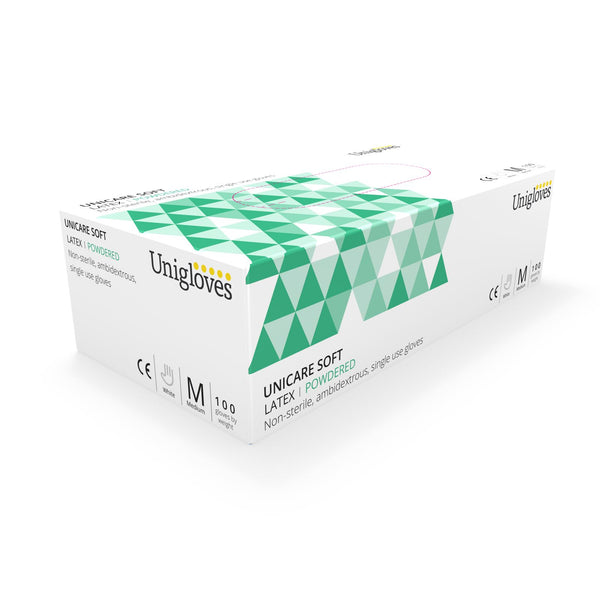 100 Latex Powdered Non Sterile Disposable Examination Gloves (Extra Small) GS0021