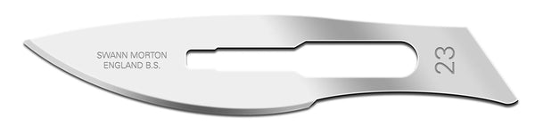 Swann Morton No 23 Non Sterile Carbon Steel Blades 0110 (Pack of 100)