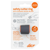 Slice 10583 Safety Cutter Ring Black/Orange
