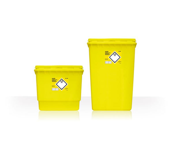 30 Litre Clinical Waste Yellow Sharps Container (Pack of 2)