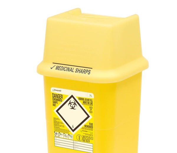 7 Litre Yellow Sharps Container (Pack of 2)