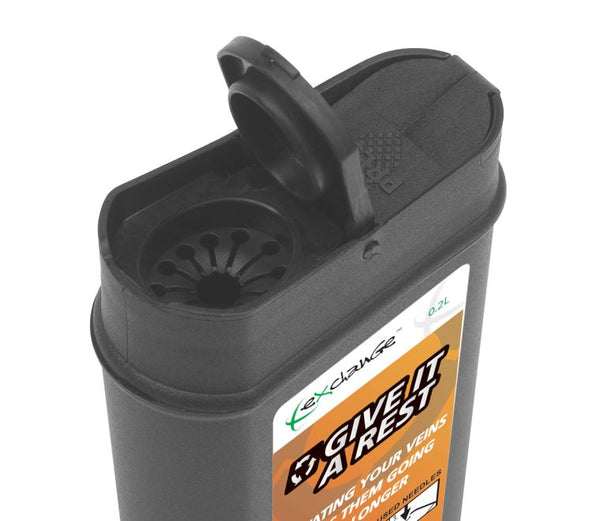 0.2 Litre Black Sharps Container (Pack of 2)