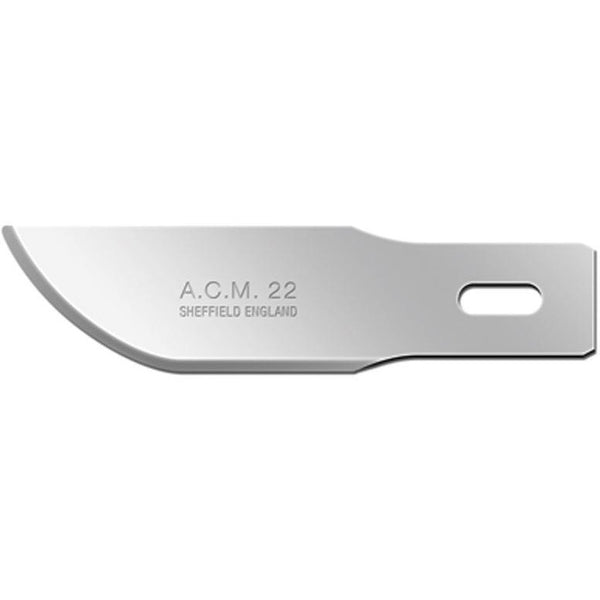 Swann Morton ACM (Arts, Craft & Modellers) No 22 Blades 9308 (Pack of 50) to fit ACM No 2 and 5 Handles