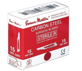 Swann Morton Sterile Carbon Steel Surgical Blades All Sizes (Pack of 100)