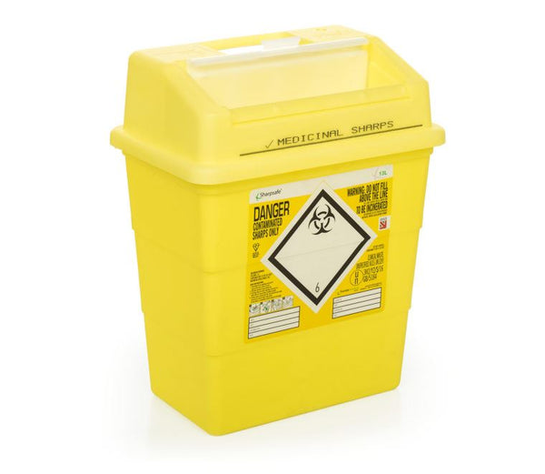 13 Litre Yellow Sharps Container (Pack of 2)