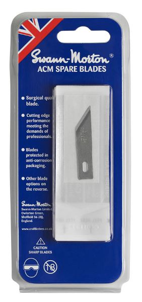 No 24 ACM Spare Blades Retail Pack of 5 Blades 9144 (Single Pack) to fit ACM No 2 and 5 Handles