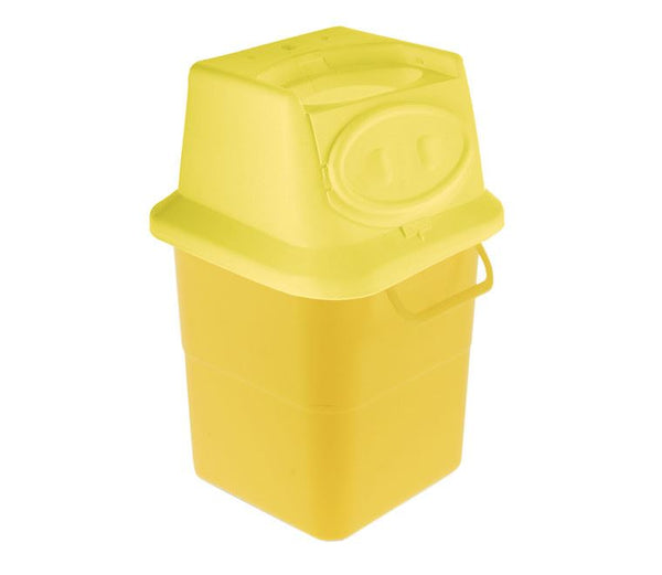 4 Litre Yellow Sharps Container (Pack of 2)