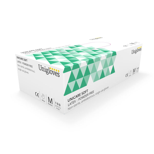 100 Latex Powder Free Non Sterile Disposable Examination Gloves (Medium) GS0013