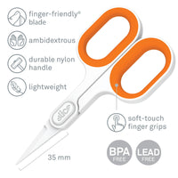 Slice 10546 Small Pointed Scissors White/Orange