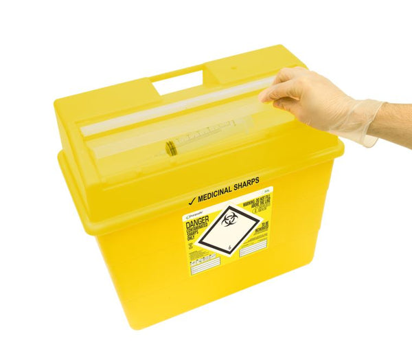 30 Litre Protected Access Yellow Sharps Container (Pack of 2)