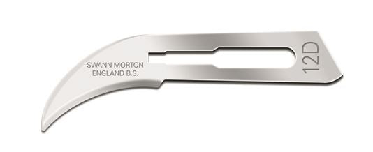 Swann Morton No 12D Sterile Carbon Steel Blades 0218 (Pack of 100)