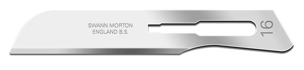Swann Morton No 16 Sterile Carbon Steel Blades 0222 (Pack of 10)