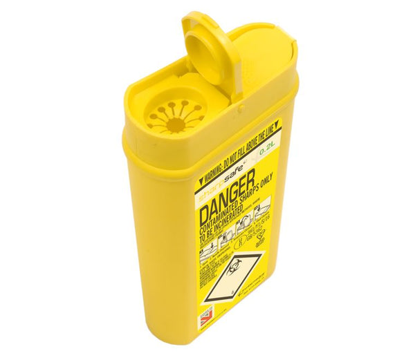 0.2 Litre Yellow Sharps Container (Pack of 2)