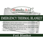 Handy Aid Emergency Thermal Foil Blanket (Pack of 25)
