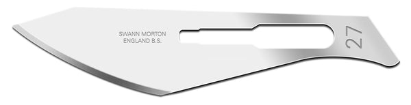 Swann Morton No 27 Non Sterile Carbon Steel Blades 0114 (Pack of 100)