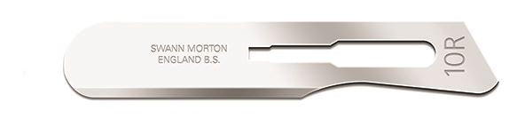 Swann Morton No 10R Sterile Stainless Steel Blades 0390 (Pack of 100)