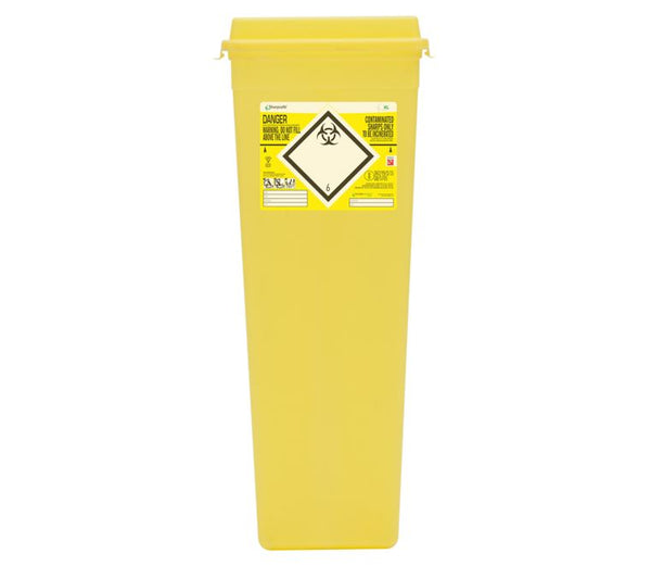 XL 25 Litre Protected Access Yellow Sharps Container (Pack of 2)