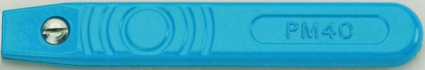 Post Mortem PM40 Blue Epoxy Powder Coated Standard Handle (Single Pack)