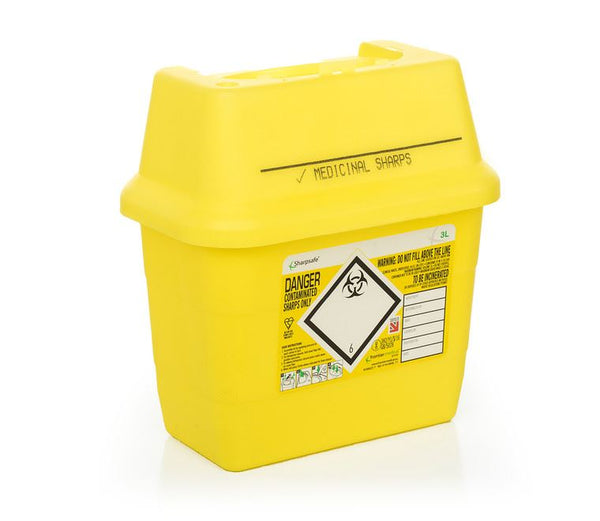 3 Litre Yellow Sharps Container (Pack of 2)