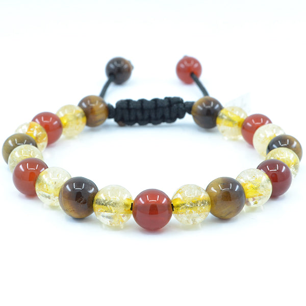 Carnelian, Citrine, Tiger's Eye