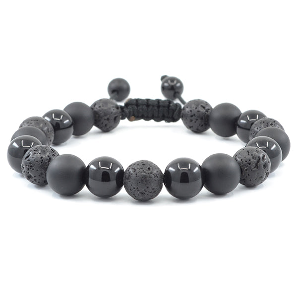 Lava, Matte & Polished Black Onyx