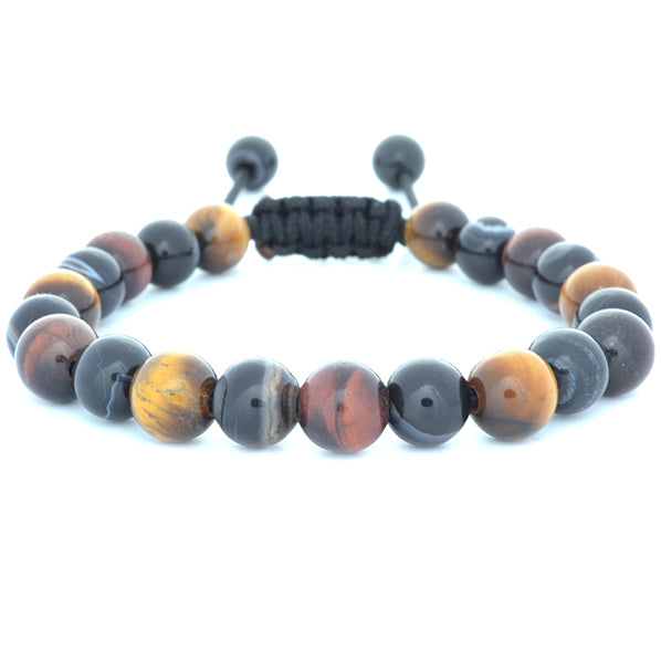 Red Tiger's Eye, Black Banded Agate, Tiger's Eye