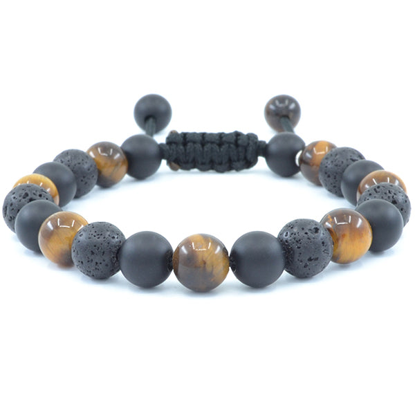 Tiger's Eye, Matte Black Onyx, Lava