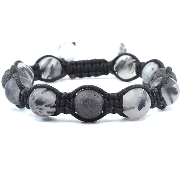 Tourmalated Quartz with Lava Shamballa