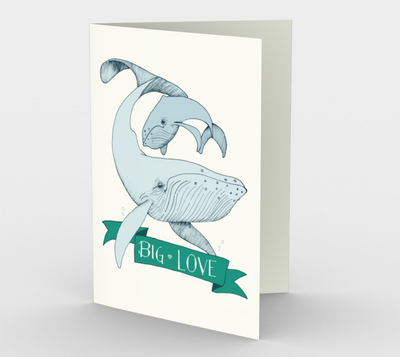 Big Love (green and blue) Stationary Card (set of 3 with envelopes)