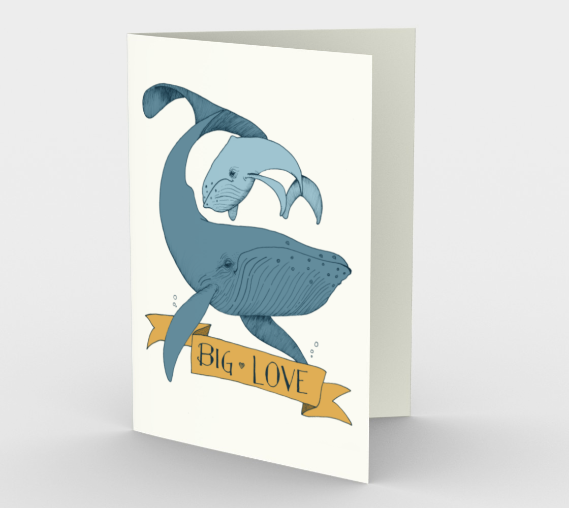 Big Love (gold and dark blue) Stationary Card (set of 3 with envelopes)