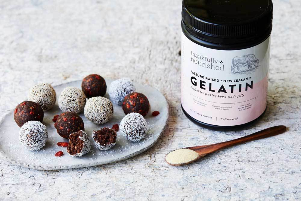 Date and Cranberry and Cacao Bliss Balls