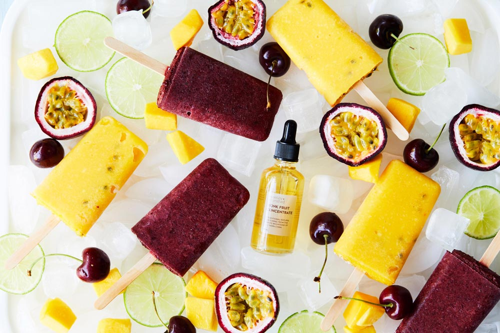 Mango Passionfruit & Cherry Popsicles