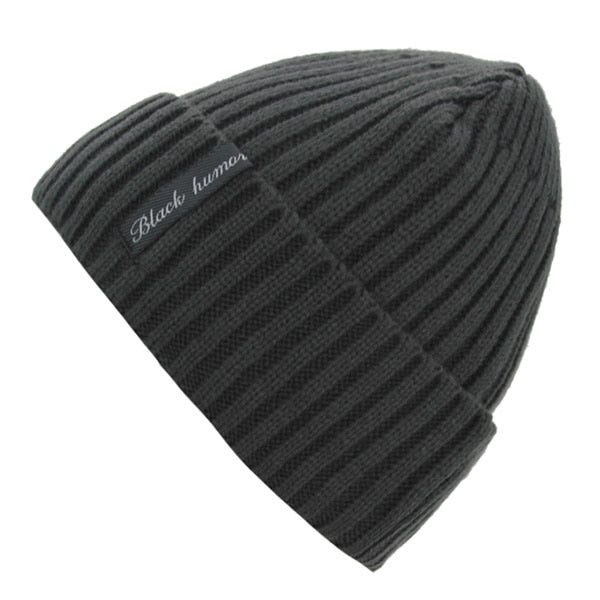 Warm black knitted hat – Winter Work Gears 135ef8b3a53