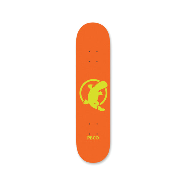 "Team Platypus Orange 8.0"" Skateboard - Platypus Board Co."