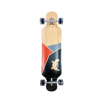 Fractured Drop Through Double Kicktail Longboard - Platypus Board Co.