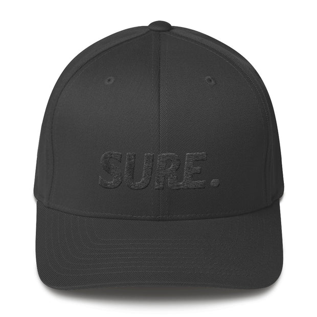 SURE BLACK FLEXFIT STRUCTURED TWILL CAP - Platypus Board Co.